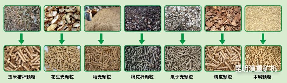生物燃料颗粒机生产出来的各种制品