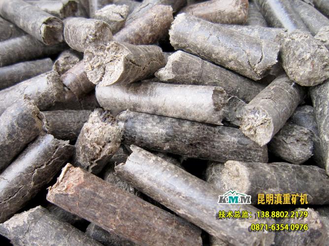 甘蔗渣颗粒机生产出来的蔗渣燃料颗粒